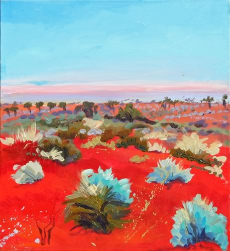 Red Earth Australia Painting